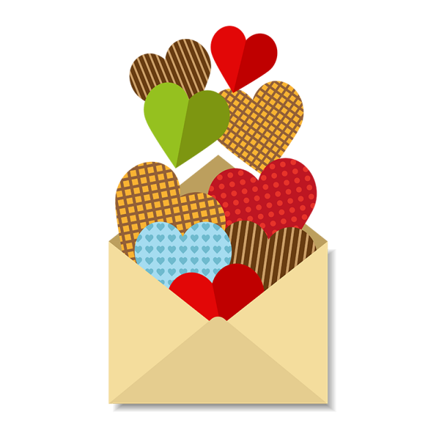 Mail clipart love letter. With a lot of