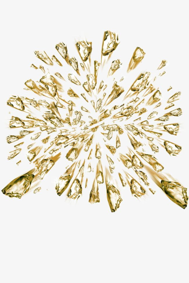 Yellow simple crystal floating. Clipart explosion ice