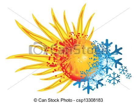 Vector of logo hot. Clipart explosion ice
