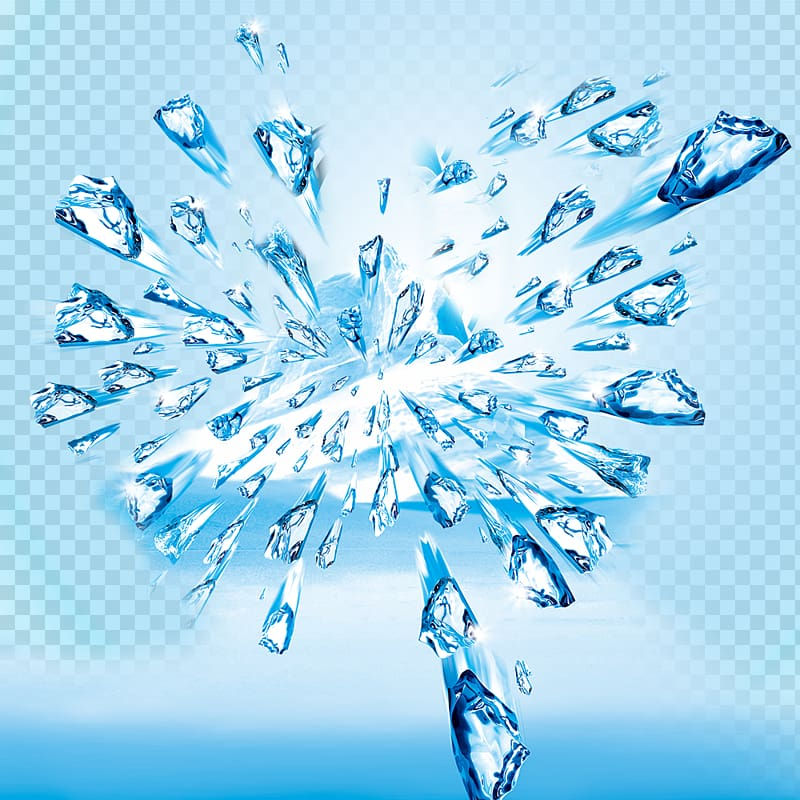 Clipart explosion ice. Flying lot illustration cube