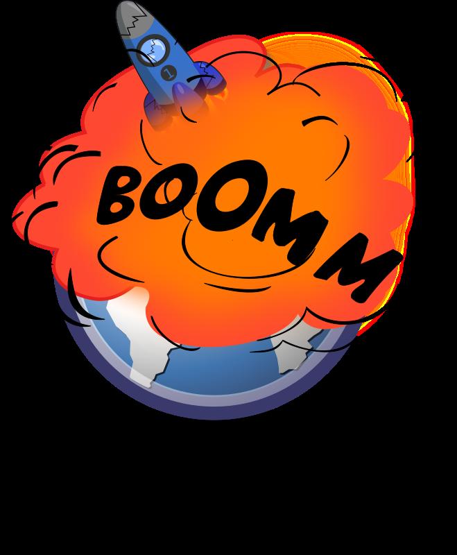 Clipart explosion illustration. Rocket medium image png