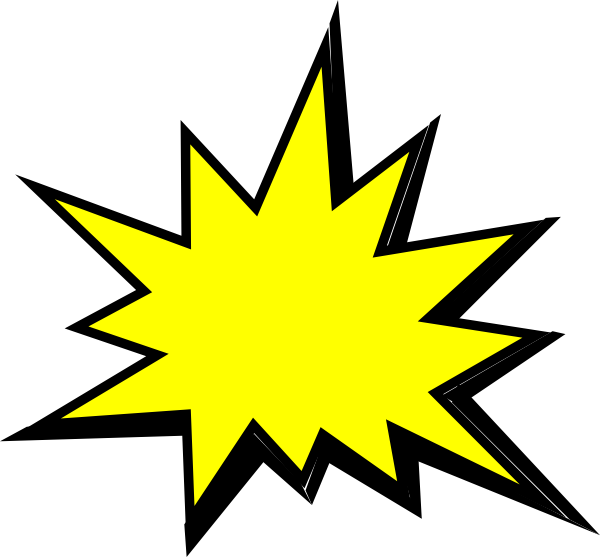 Yellow pow clip art. Lightning clipart comic book