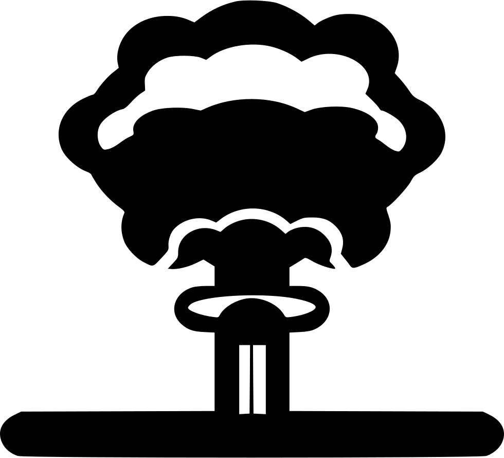 Clipart explosion lab explosion. Nuclear svg png icon