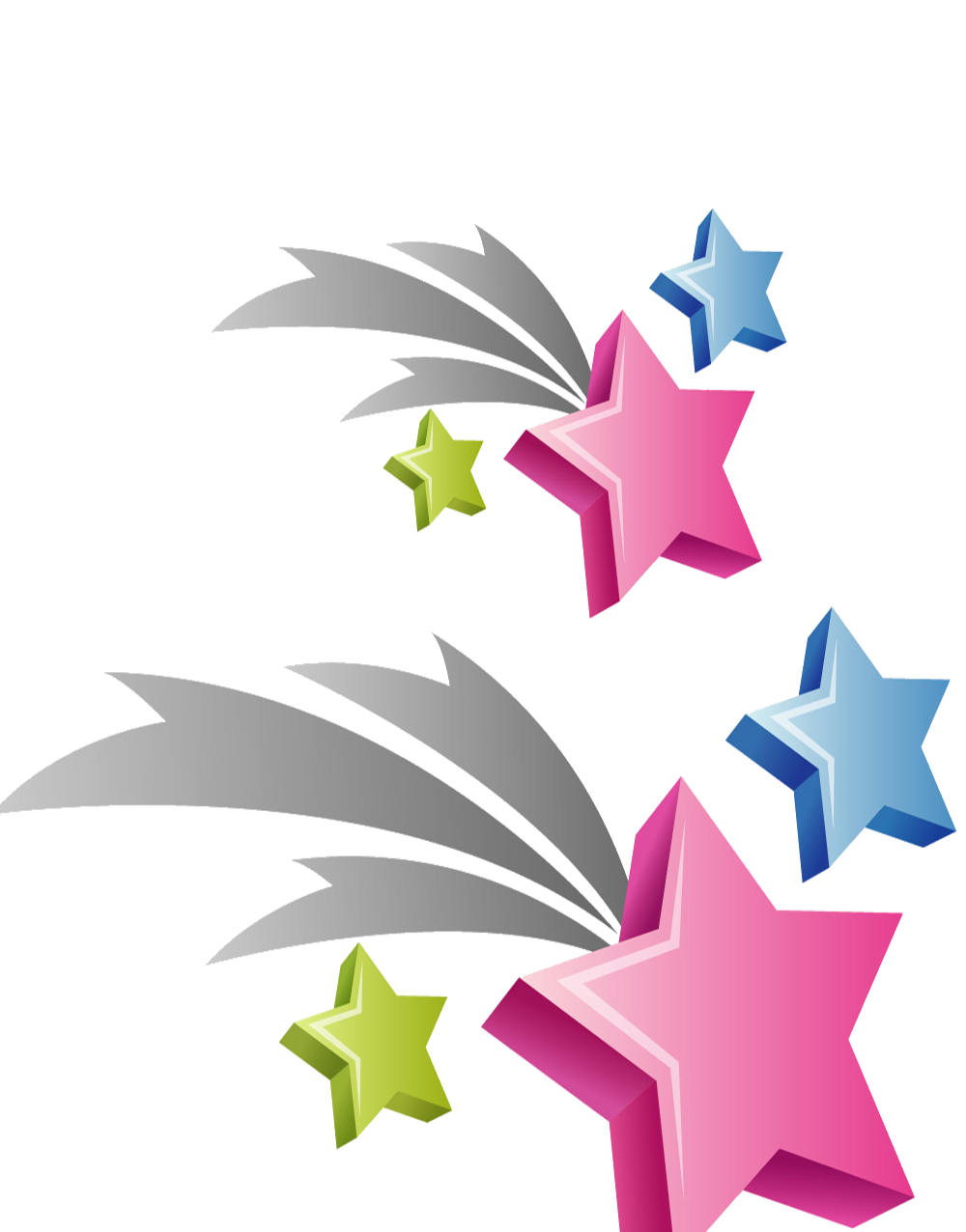 Star color simple fly. Clipart explosion leaf