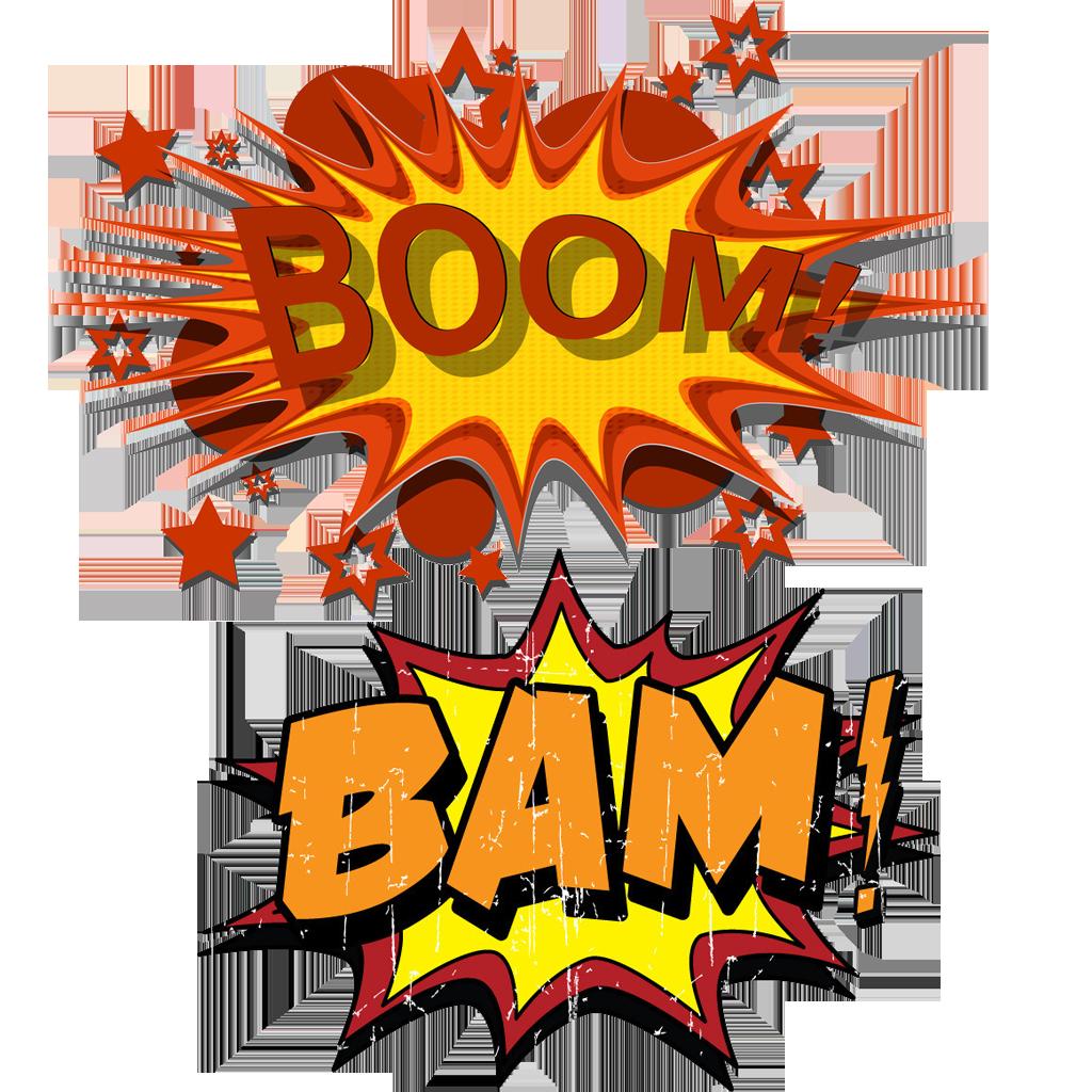 Explosion clipart bam. Cartoon comics bomb in