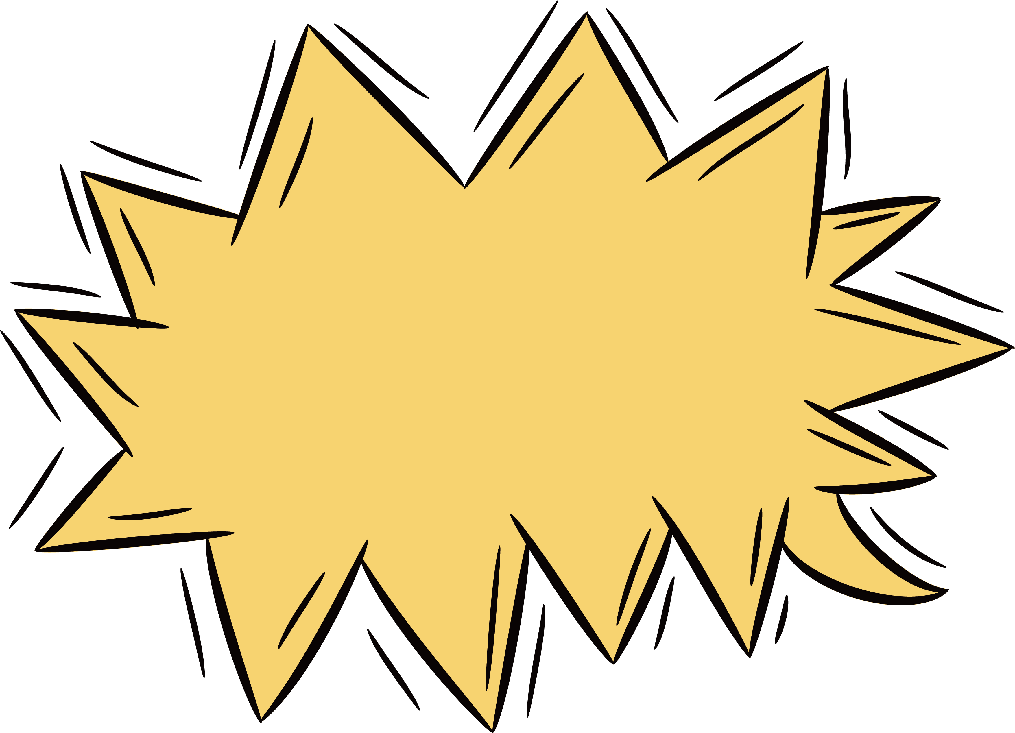 Clipart explosion leaf. Clip art yellow serrated