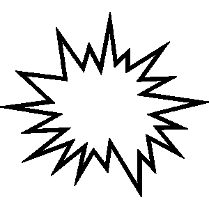 Clipart explosion line art. Star free images clip