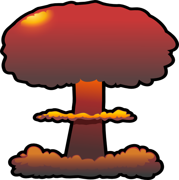 Nuclear explosions clip art. Scientist clipart explosion