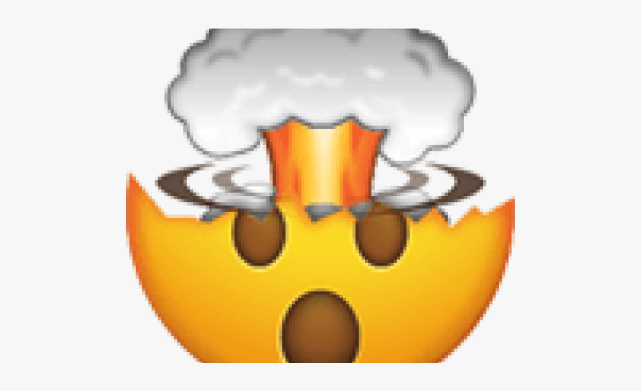 Clipart explosion mind explosion. Emoji blown png