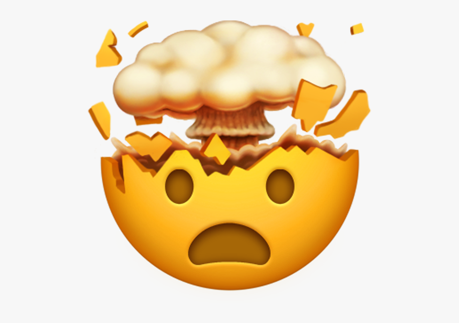 Collection of brain exploding. Clipart explosion mind explosion