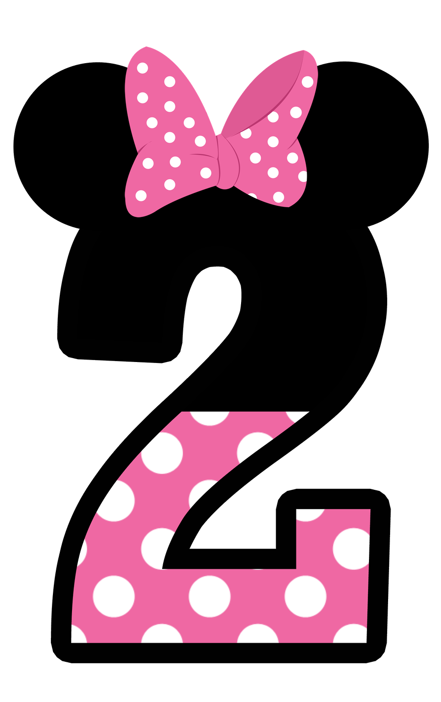 Number 1 clipart polka dot. Numbers pinterest mice minnie