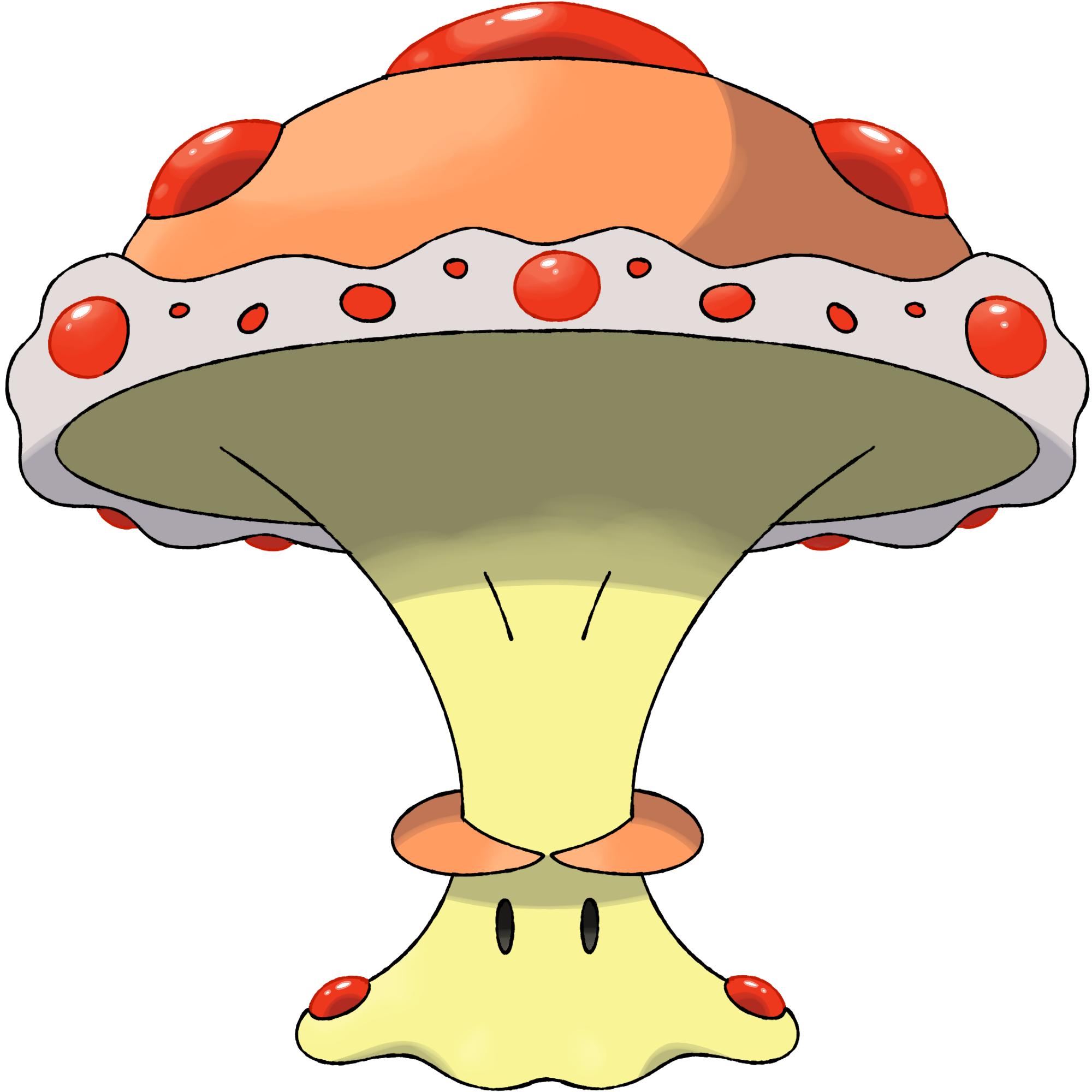 Mushroom clipart cloud. Pokemon concept caliboom oc