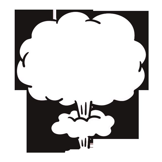 Cartoon explosion jet icon. Mushroom clipart cloud