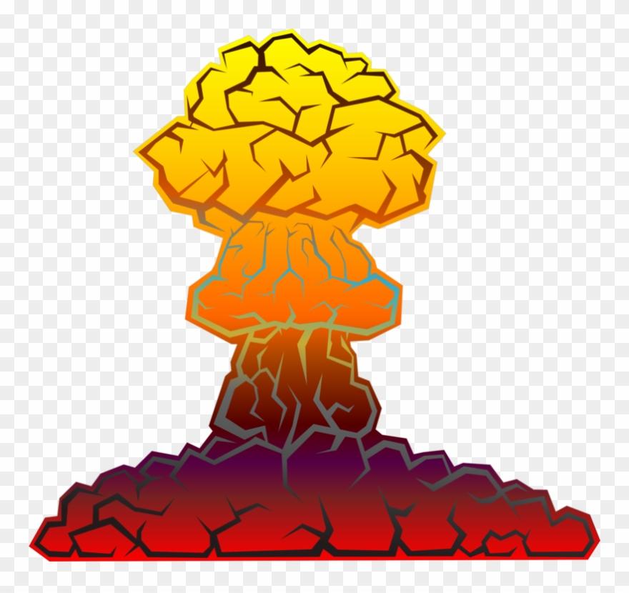 Explosion clipart nuke explosion. Nuclear warfare weapon bomb