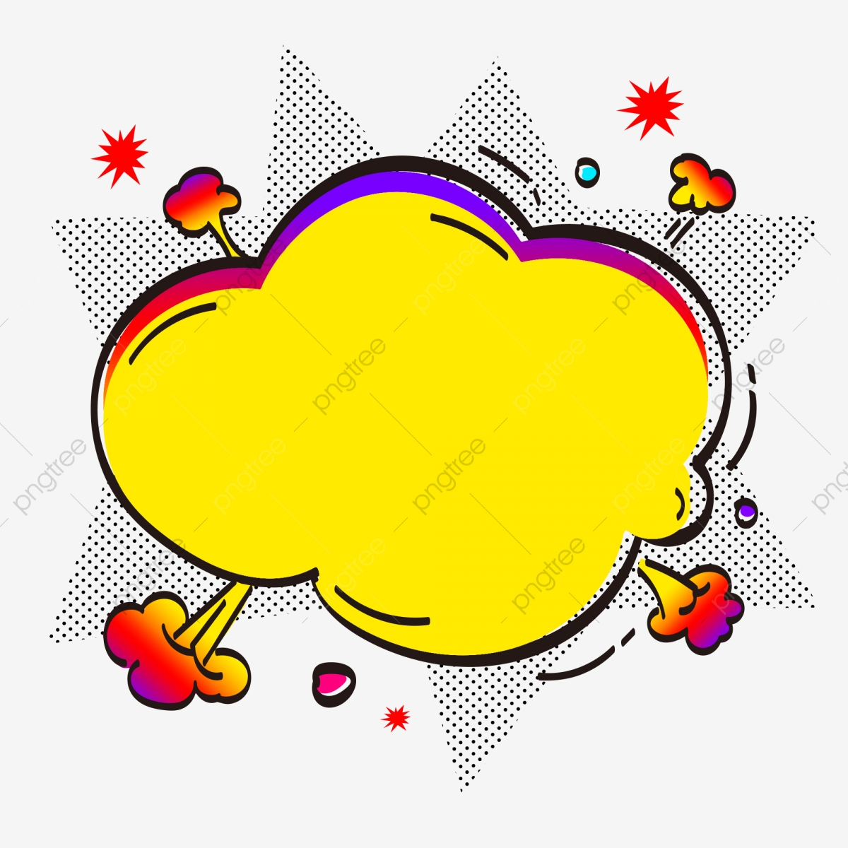 Commercial point decoration temper. Clipart explosion office