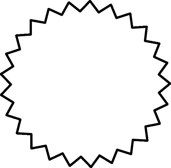 Explosion clipart starburst. Outline black clip art