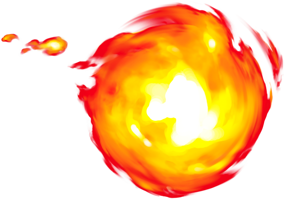 Pixel fireball pencil and. Game clipart 8 bit
