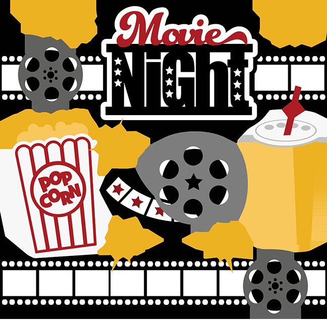 Popcorn group rental night. Movie clipart clip art