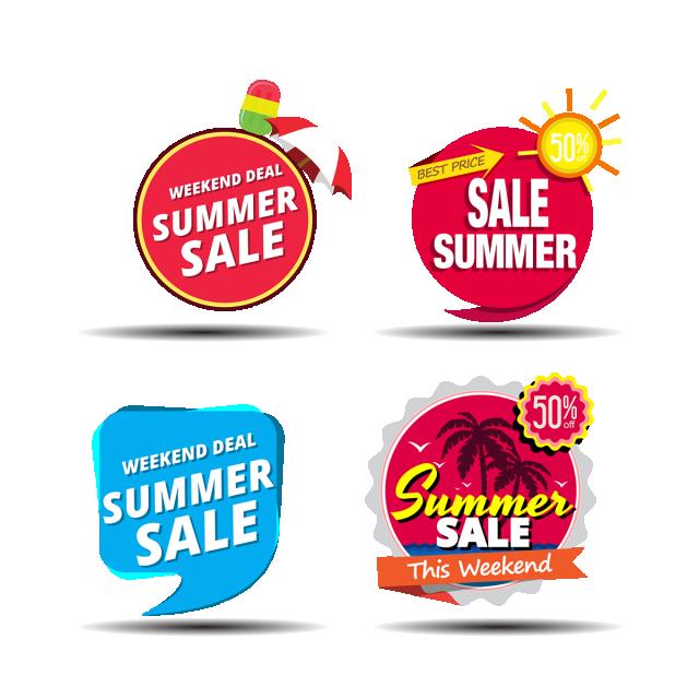 Banner design sale png. Clipart summer element