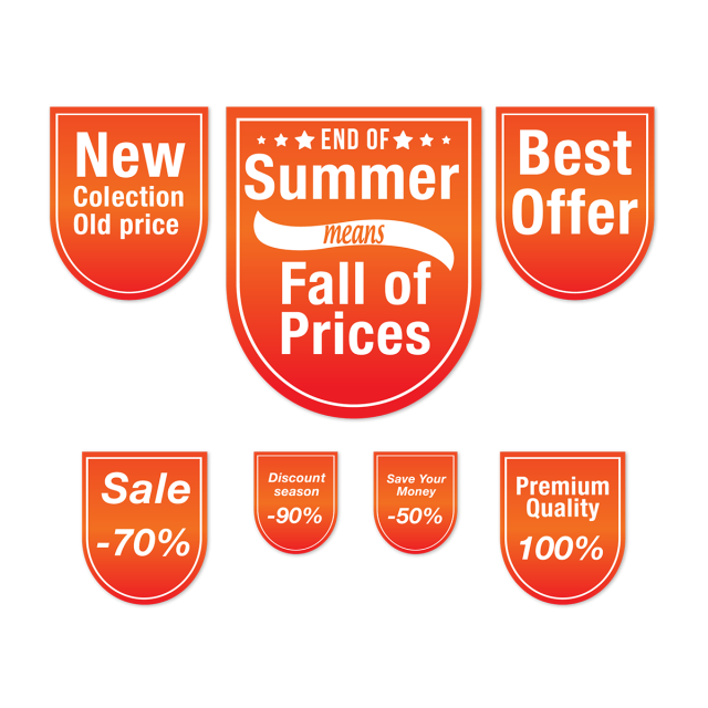 Clipart explosion price tag. Sale banner design summer