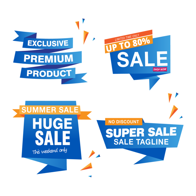 Sale banner design summer. Clipart explosion price tag