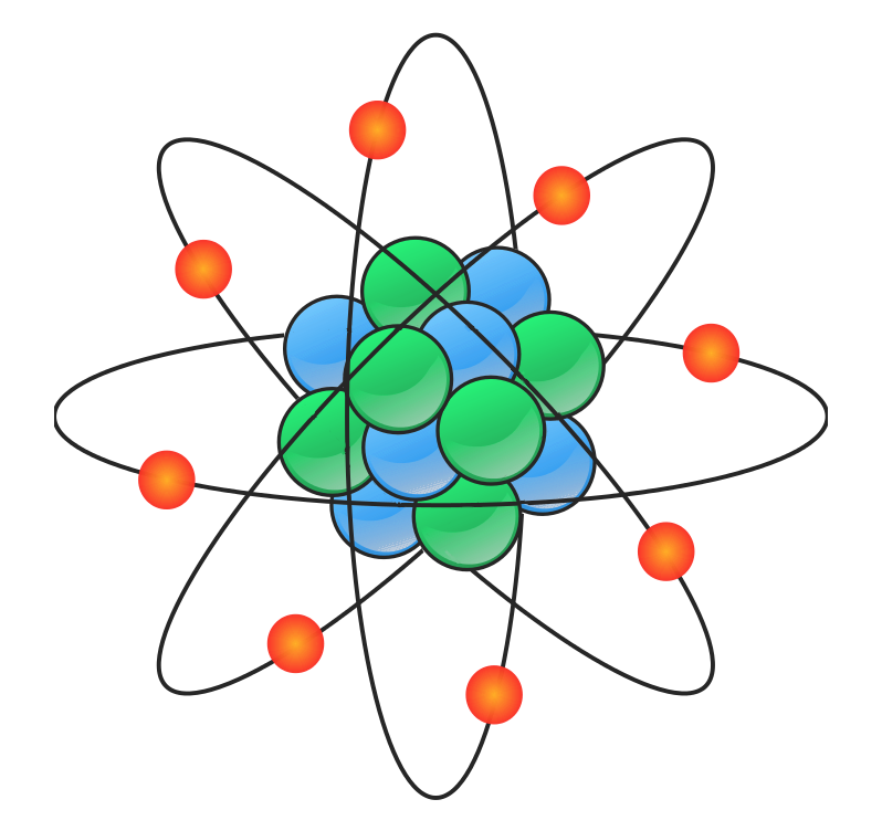 Chemistry free to use. Atom clipart cute