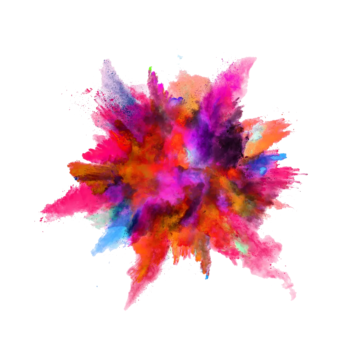 Color powder explosion png. Colors clipart smoke
