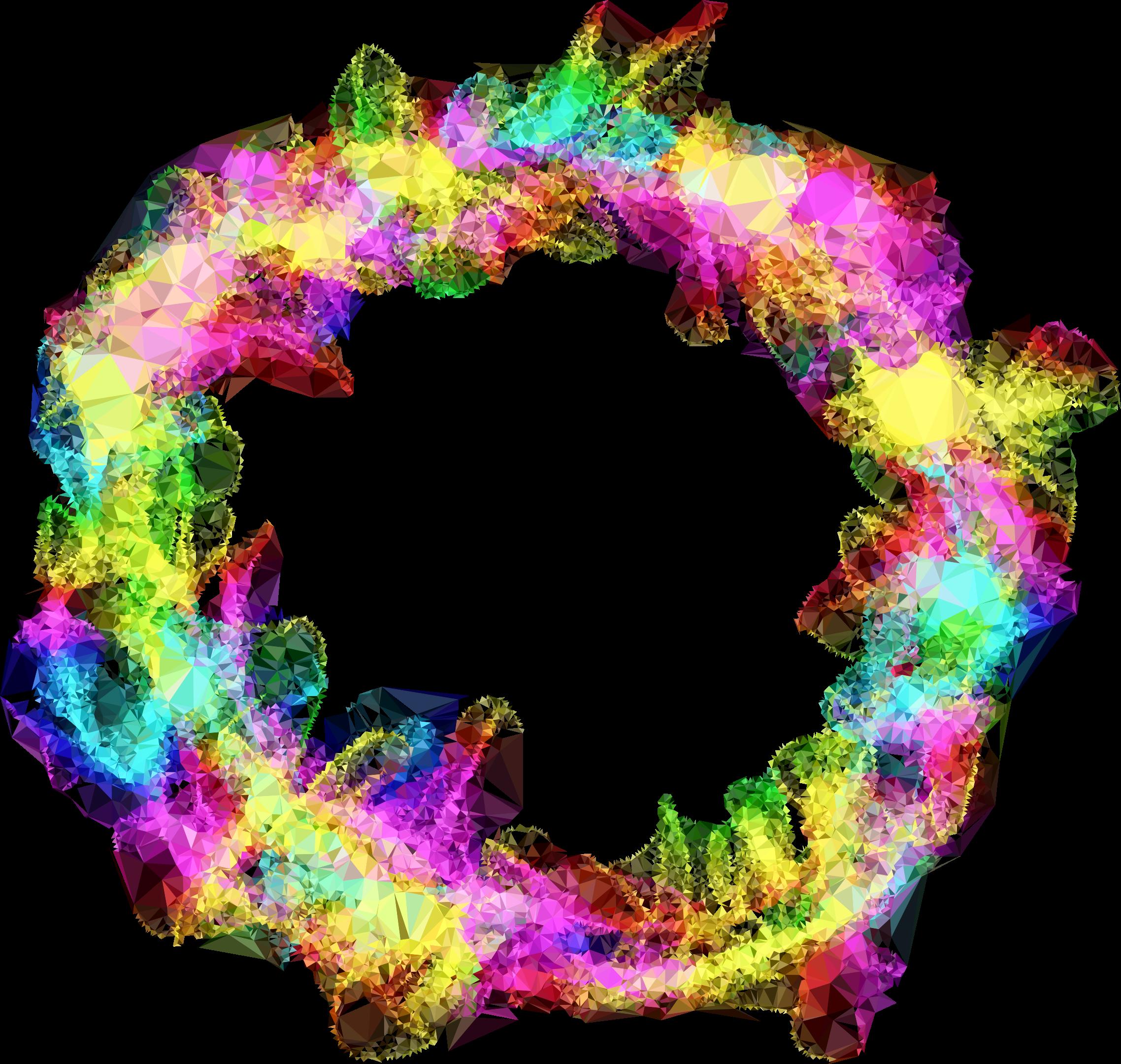 Low poly prismatic particle. Clipart explosion purple