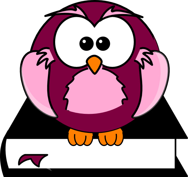 Purple pencil and in. Clipart owl student