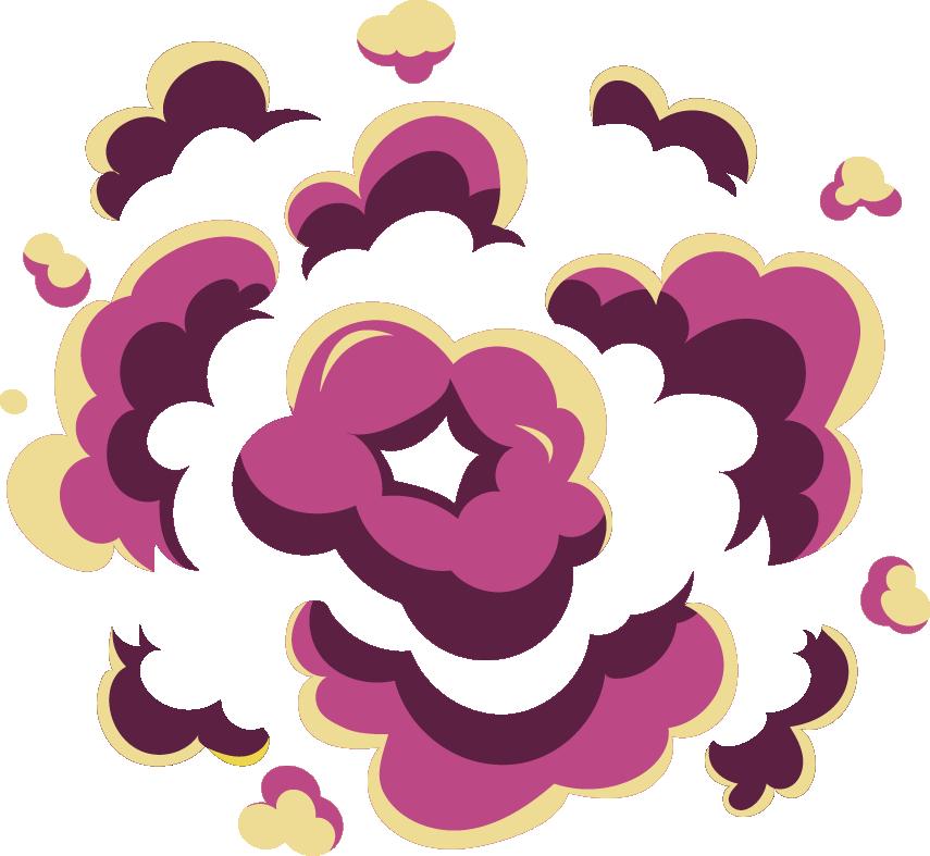 Cool cartoon cloud transprent. Clipart explosion purple