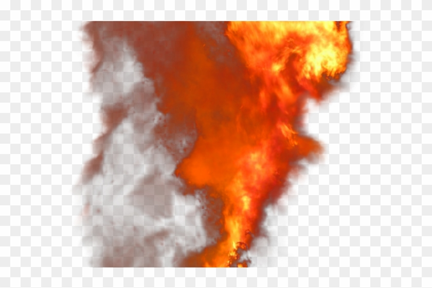 Fire smoke png . Flames clipart realistic explosion