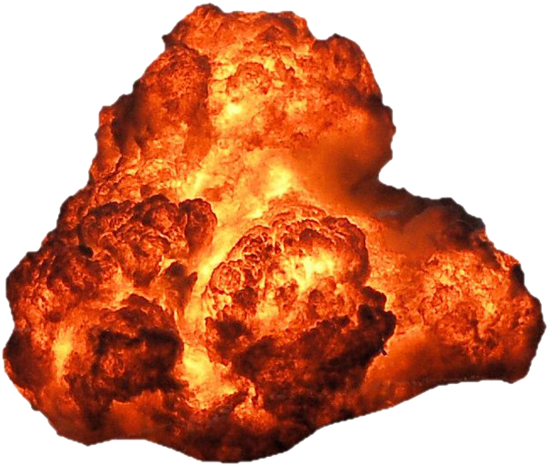 Clipart explosion rock. Big with fire and