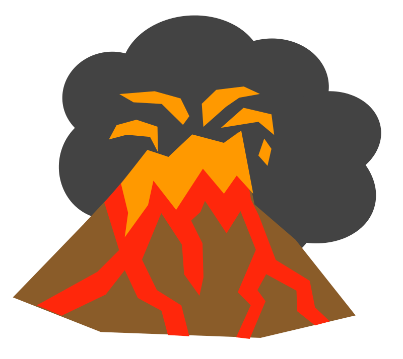 collection of exploding. Earthquake clipart volcano