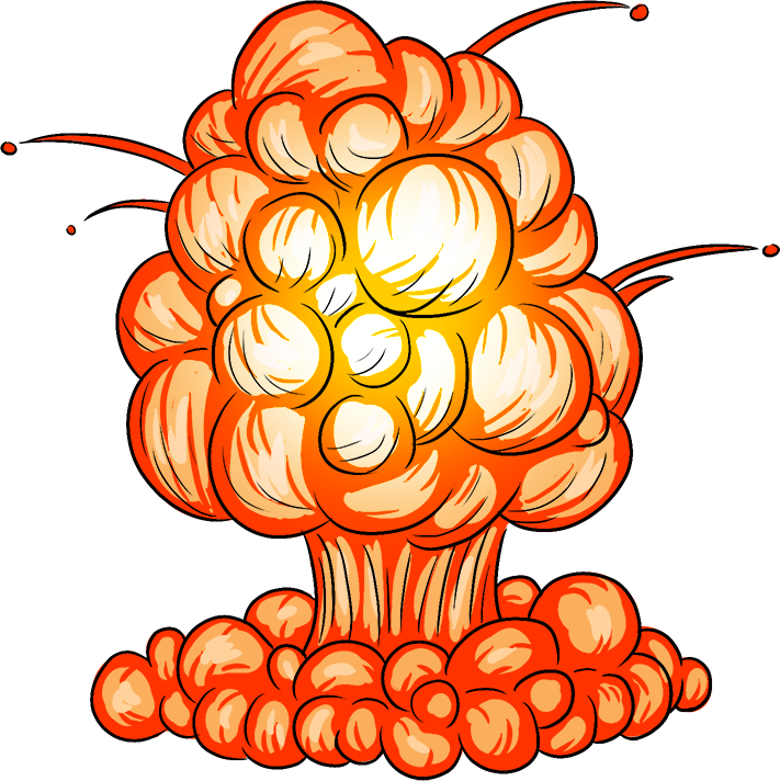 Create your own big. Clipart explosion rocket explosion
