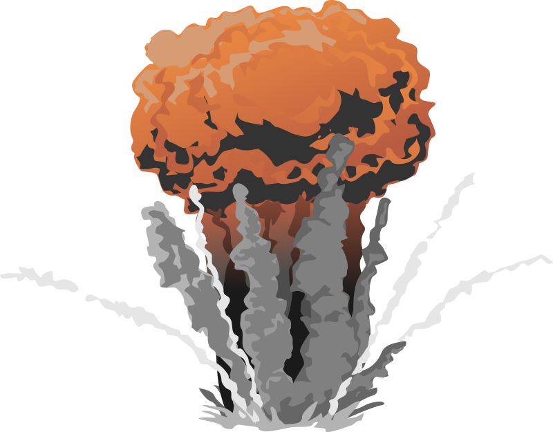 Medium image png . Clipart explosion rocket explosion