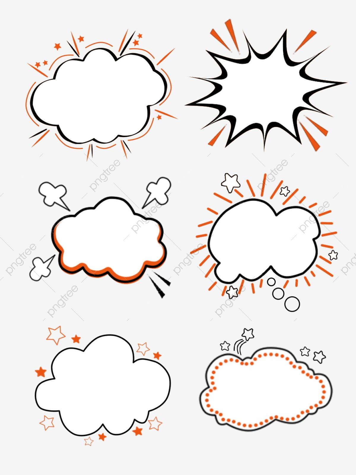 Hand drawn minimalistic orange. Clipart explosion simple cartoon