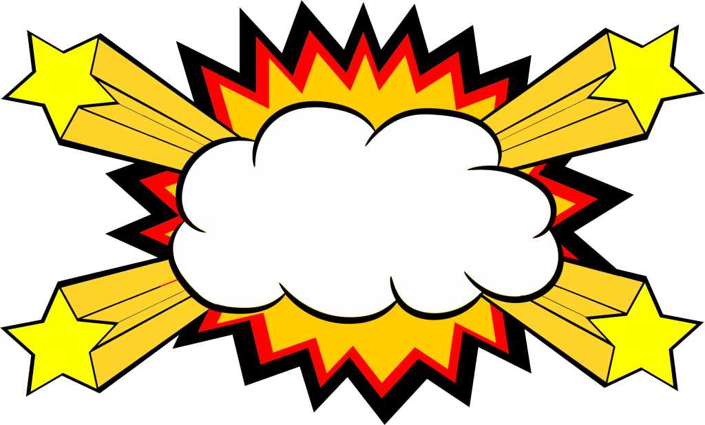 collection of comic. Clouds clipart explosion