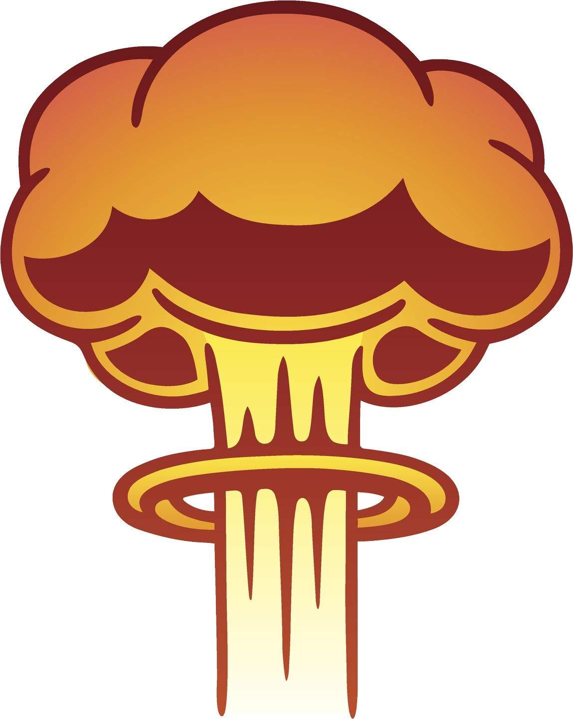 Clipart explosion simple cartoon. Amazon com atomic mushroom