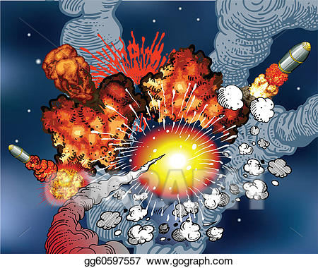Vector stock explosions illustration. Explosion clipart space explosion