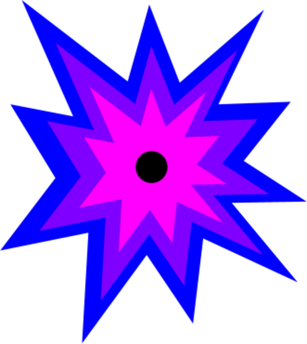 Clipart explosion star banner.  collection of high