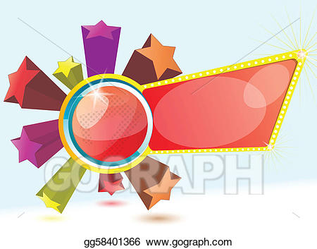 Clip art vector blue. Clipart explosion star banner