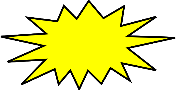 Explosion clipart starburst. Explosions pencil and in