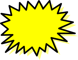 Clipart explosion svg. Yellow png clip art