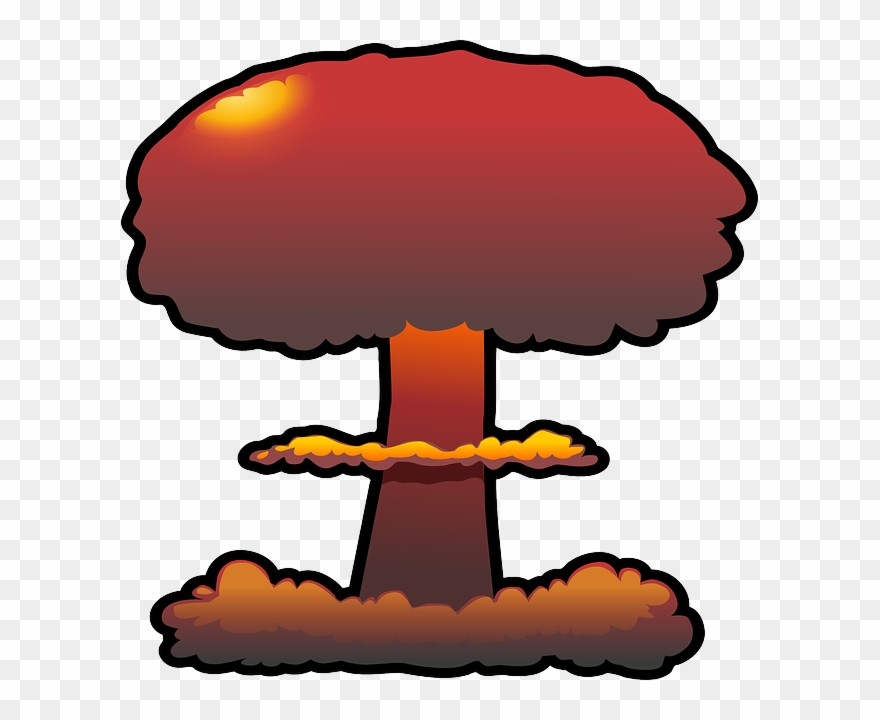 Nuclear explosions clip arts. Clipart explosion svg