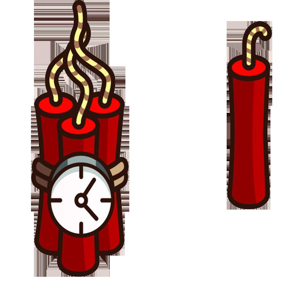 Explosion clipart dynomite. Tnt dynamite cartoon time