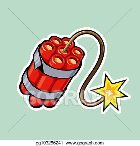 Clip art vector dynamite. Clipart explosion tnt bomb