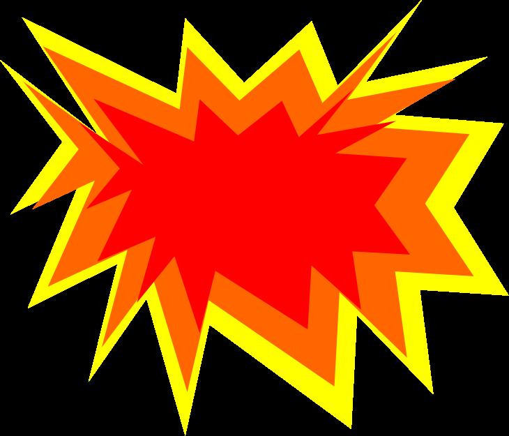 Explode color medium image. Explosion clipart bam