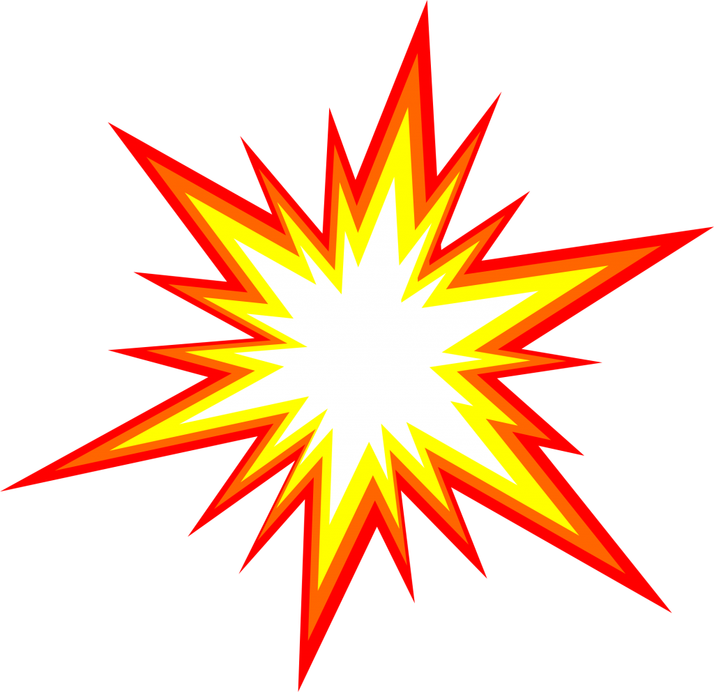 Explosion clipart vector.  starburst comic png
