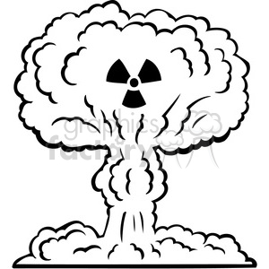 Nuclear royalty free . Clipart explosion war