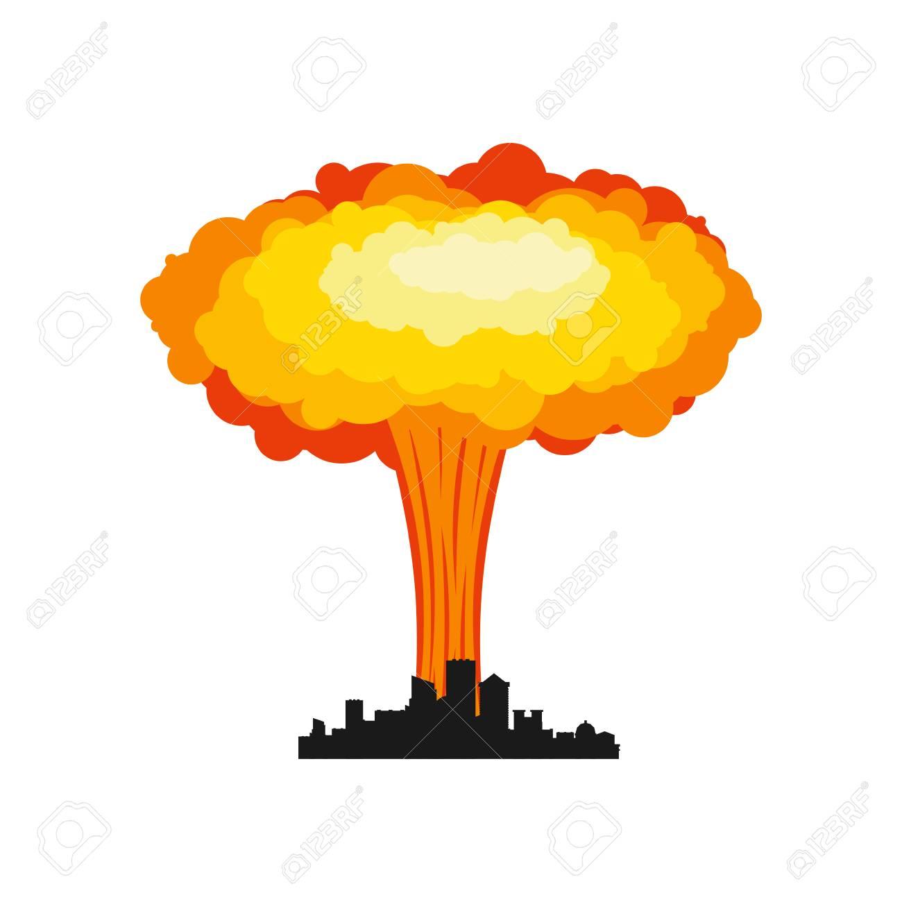 Explosion clipart war. Nuke x free clip